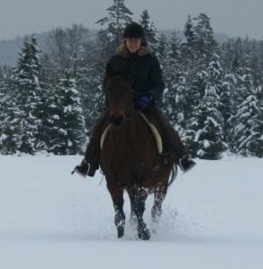 helena och lady i snön